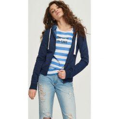 Bluzy damskie: Bluza z kapturem – Granatowy