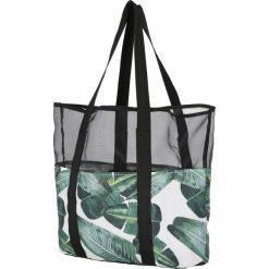 Torba plażowa TPL200 - multikolor. Szare torby plażowe marki 4f, w paski, z materiału. Za 59,99 zł.