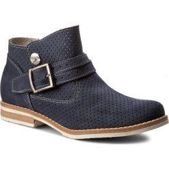 Botki SERGIO BARDI - Aniela FS127247517SW 407. Niebieskie buty zimowe damskie Sergio Bardi, ze skóry, eleganckie, z paskami. W wyprzedaży za 179,00 zł.