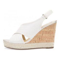 Geox Sandały Damskie Donna Janira 38 Kremowe. Białe sandały damskie Geox, na koturnie. W wyprzedaży za 349,00 zł.