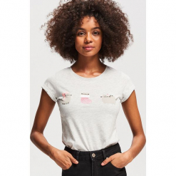 T-shirt z nadrukiem Pusheen - Jasny szar. Szare t-shirty damskie marki Reserved, l, z nadrukiem. Za 29,99 zł.