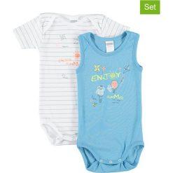 Body niemowlęce: Body (2 szt.) w kolorze niebieskim i białym