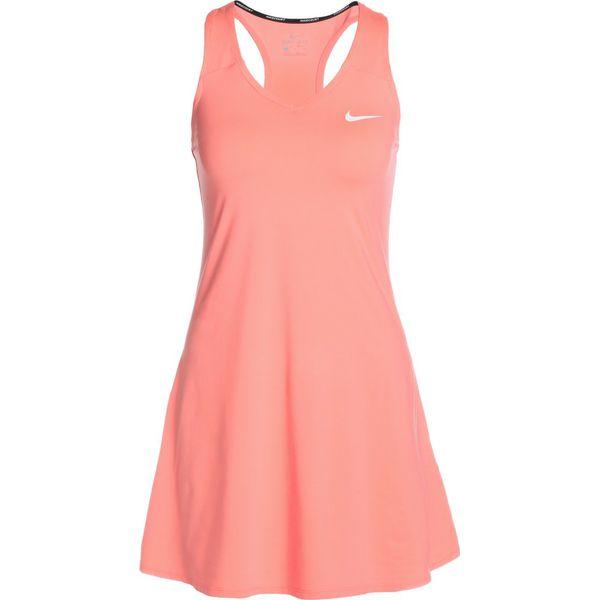 518cb9ab9b Nike Performance PURE Sukienka sportowa lava glow white - Czerwone ...