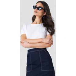 T-shirty damskie: MANGO T-shirt z wiązanym rękawem - White