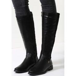 Buty zimowe damskie: Czarne Kozaki Simple Angie