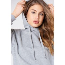 Bluzy damskie: NA-KD Basic Bluza z kapturem basic – Grey