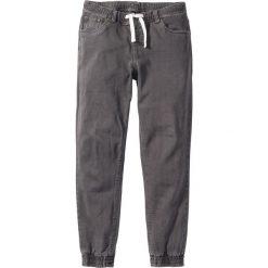 Spodnie ze stretchem, bez zamka SLIM FIT STRAIGHT bonprix szary. Szare joggery męskie marki bonprix. Za 119,99 zł.