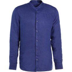 Koszule męskie na spinki: 120% Lino CAMICIA UOMO GURU Koszula crown blue