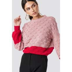 NA-KD Sweter Bubble - Pink. Różowe swetry oversize damskie NA-KD, z dzianiny. Za 161,95 zł.