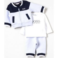 BOSS Kidswear BABY Bluza rozpinana bleuweiss. Niebieskie bluzy niemowlęce marki BOSS Kidswear, z bawełny. Za 489,00 zł.