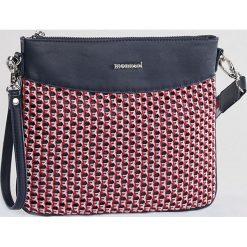 Monnari - Torebka. Brązowe torebki klasyczne damskie Monnari, w paski, z materiału, średnie. W wyprzedaży za 79,90 zł.