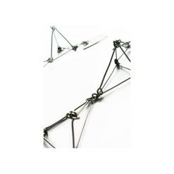 Kolczyki damskie: Długie geometryczne kolczyki ze stali Futuristika