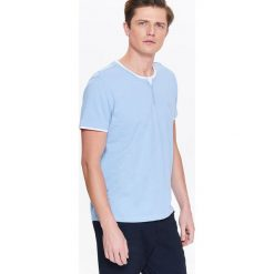 T-shirty męskie: T-SHIRT MĘSKI Z BIAŁĄ WSTAWKĄ