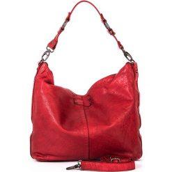 Torebki klasyczne damskie: Skórzana torebka w kolorze czerwonym – 35 x 32 x 9 cm