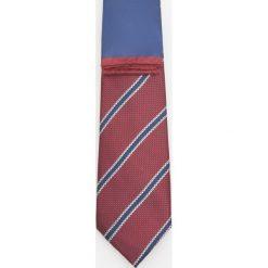 Zestaw krawat i poszetka - Bordowy. Czerwone krawaty męskie Reserved. Za 59,99 zł.