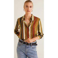 Mango - Koszula Jaquelin. Szare koszule wiązane damskie Mango, l, w paski, z materiału, klasyczne, z klasycznym kołnierzykiem, z długim rękawem. Za 139,90 zł.