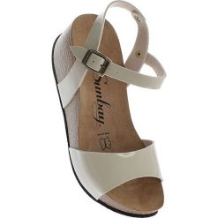 Rzymianki damskie: Sandały w kolorze kremowym