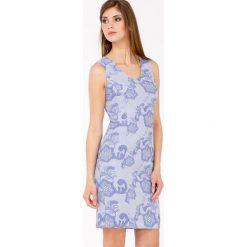 Sukienki: Koktajlowa sukienka z żakardowym wzorem