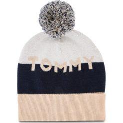 Czapka TOMMY HILFIGER - Tommy Colorblock Bea AW0AW05939 908. Niebieskie czapki zimowe damskie marki WED'ZE, z materiału. Za 229,00 zł.