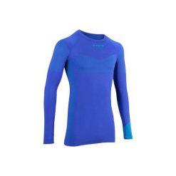 Podkoszulka długi rękaw 500. Niebieskie odzież termoaktywna męska marki B'TWIN, m, z długim rękawem. Za 59,99 zł.
