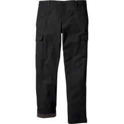 Bojówki męskie: Spodnie bojówki ocieplane Regular Fit Straight bonprix czarny