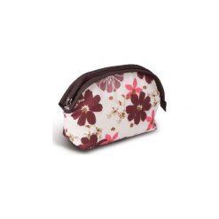 Kosmetyczki damskie: Donegal DONEGAL KOSMETYCZKA damska w brązowe kwiatki  4962 – 274962