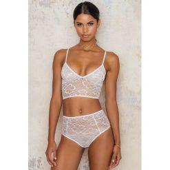 Bielizna damska: NA-KD Lingerie Wysokie figi Floral – White