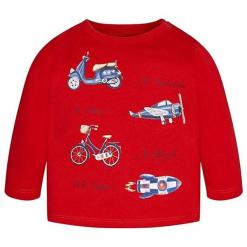 Koszulka w kolorze czerwonym. Czerwone t-shirty chłopięce z długim rękawem marki Mayoral. W wyprzedaży za 34,95 zł.