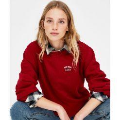 Bluzy rozpinane damskie: Bluza z haftem