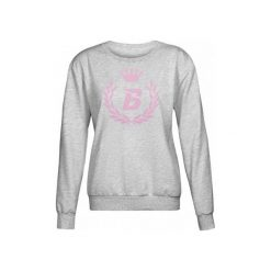 Bluzy rozpinane damskie: Bodypak Bluza damska Hoodie Grey/Pink r. S (BOD/136)