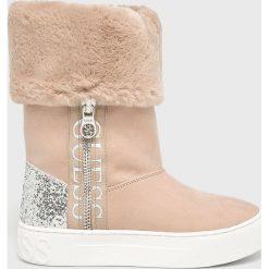 Guess Jeans - Śniegowce. Szare śniegowce damskie Guess Jeans, z gumy. Za 649,90 zł.