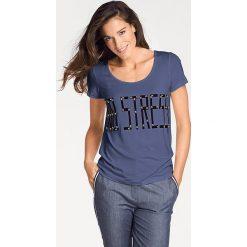 Odzież damska: Koszulka w kolorze niebieskim