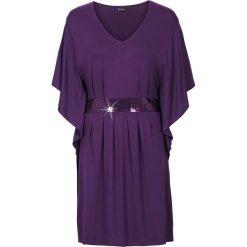 Sukienki: Sukienka z aplikacją z perełek bonprix ciemny lila