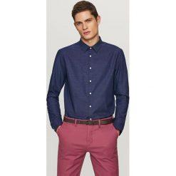 Koszula slim fit - Granatowy. Niebieskie koszule męskie slim Reserved, m. Za 69,99 zł.