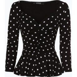 Guess Jeans - Koszulka damska, czarny. Szare t-shirty damskie marki Guess Jeans, na co dzień, l, z aplikacjami, z bawełny, casualowe, z okrągłym kołnierzem, mini, dopasowane. Za 309,95 zł.