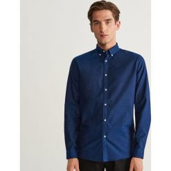 Koszula z bawełny oxford slim fit - Niebieski. Niebieskie koszule męskie slim marki Reserved, l, z bawełny. Za 99,99 zł.