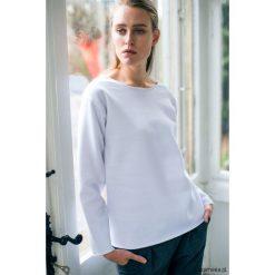 Bluzy damskie: OVAL WHITE Bluza Oversize