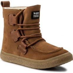Buty zimowe chłopięce: Śniegowce MRUGAŁA – 7390-32 Tabaco