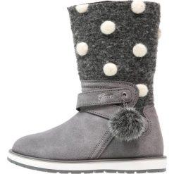 Geox NOHA Kozaki grey. Niebieskie buty zimowe damskie marki Roxy, z tworzywa sztucznego, na wysokim obcasie. W wyprzedaży za 239,40 zł.