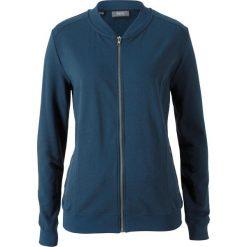 Bluzy damskie: Bluza rozpinana z kołnierzykiem w stylu college bonprix ciemnoniebieski