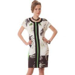 Sukienki hiszpanki: Sukienka w kolorze zielono-czarno-ecru