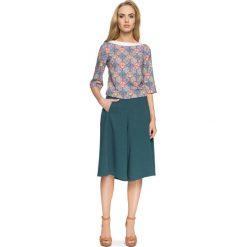 Prosta Kolorowa Bluzka z Nowoczesnymi Detalami - Model 4. Szare bluzki asymetryczne Molly.pl, l, w kolorowe wzory, z jeansu, z długim rękawem. Za 108,90 zł.