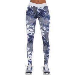 Spodnie damskie: Bas Black Legginsy damskie Code biało-niebieskie r. S (BB12538)
