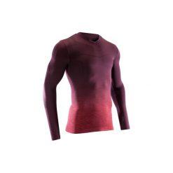 Podkoszulek do piłki nożnej długi rękaw Keepdry 500. Czerwone odzież termoaktywna męska KIPSTA, m, z elastanu, z długim rękawem, na fitness i siłownię. Za 49,99 zł.