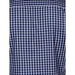 KOSZULA MĘSKA W KRATĘ Z DŁUGIM RĘKAWEM K427 - GRANATOWA/BEŻOWA. Brązowe koszule męskie na spinki marki FORCLAZ, m, z materiału, z długim rękawem. Za 39,99 zł.