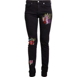 Odzież damska: Love Moschino DENIM Jeansy Slim Fit black denim