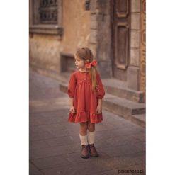 Sukienka Cherry Ceglasty. Czerwone sukienki dziewczęce z falbanami Pakamera, na jesień. Za 149,00 zł.