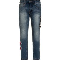 GEORGE GINA & LUCY girls CANNES  Jeans Skinny Fit fancy blue. Niebieskie jeansy dziewczęce marki Mango Kids, z aplikacjami, z bawełny. W wyprzedaży za 177,65 zł.