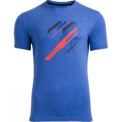 T-shirt męski TSM613 - niebieski melanż - Outhorn. Niebieskie t-shirty męskie Outhorn, na lato, m, melanż, z bawełny. W wyprzedaży za 29,99 zł.