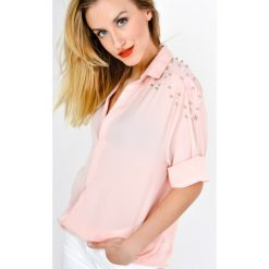 Bluzki damskie: Bluzka koszulowa z perełkami